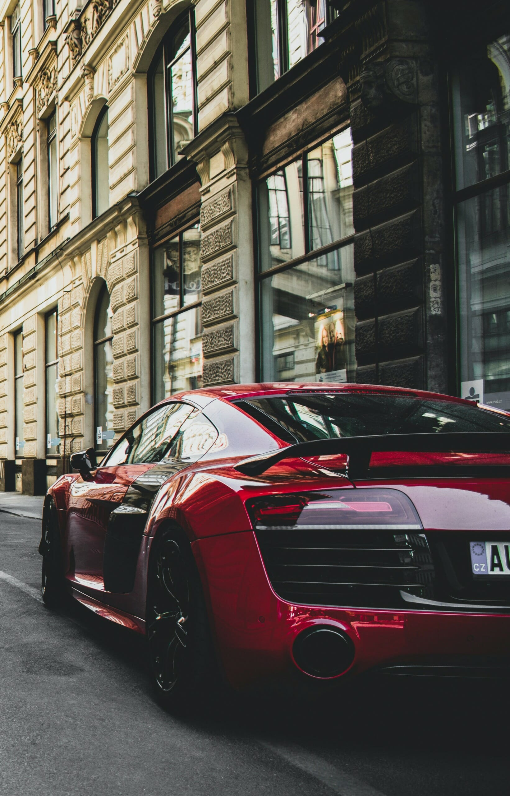 Red Audi R8 Most Comfortable Car In the World